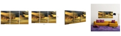 "Chic Home Decor Golden Desert 3 Piece Wrapped Canvas Wall Art -20"" x 40"""