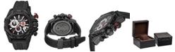 Roberto Cavalli By Franck Muller Men's Swiss Chronograph Black Rubber Strap Watch, 44mm