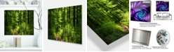 "Design Art Designart 'Fascinating Greenery In Wild Forest' Forest Metal Wall Art - 20"" X 12"""