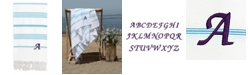 Linum Home Personalized Lucky Pestemal Beach Towel Collection