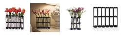 Danya B Six-Tube Hinged Vases on Rings Stands