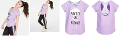 Ideology Big Girls Pretty-Print Layered-Look T-Shirt, Created for Macy's