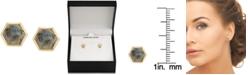 Macy's Labradorite Hexagon Stud Earrings in 18k Gold-Plated Sterling Silver