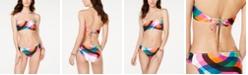 Trina Turk Kaleidoscope Printed Bandeau Bikini Top & Printed Shirred Hipster Bikini Bottoms