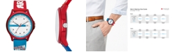 A|X Armani Exchange Men's Hampton Red & Blue Silicone Strap Watch 46mm