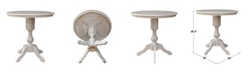 """WHITEWOOD INDUSTRIES/INTNL CONCEPTS International Concepts 36"""" Round Top Pedestal Table - 34.9""""H"""