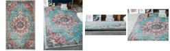 "Bridgeport Home Sana San1 Light Blue 3' 3"" x 5' 3"" Area Rug"