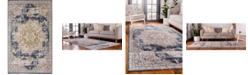 Bridgeport Home Odette Ode1 Dark Blue 5' x 8' Area Rug