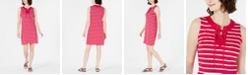 Charter Club Striped Lace-Up Dress, Created for Macy's