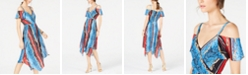 INC International Concepts I.N.C. Cold-Shoulder Surplice Dress, Created for Macy's