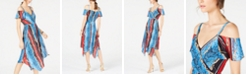 INC International Concepts INC Cold-Shoulder Surplice Dress, Created for Macy's