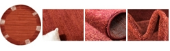 Bridgeport Home Lyon Lyo1 Rust Red 8' x 8' Round Area Rug