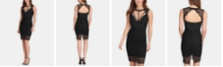 GUESS Lace Open-Back Bodycon Dress