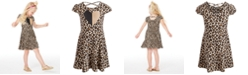 Epic Threads Little Girls Leopard-Print Heart Dress, Created for Macy's