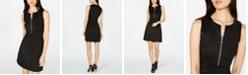 Michael Kors Embossed Zippered Dress