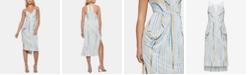 BCBGeneration Draped High-Low Midi Dress
