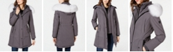 1 Madison Expedition Fox-Fur-Trim Hooded Down Parka Coat