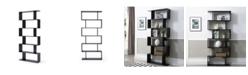 Ac Pacific Modern Staggered 6-Shelf Luke Bookcase