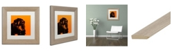 """Trademark Global Claire Doherty 'Chimp No 3' Matted Framed Art - 11"""" x 11"""""""