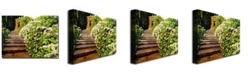 "Trademark Global David Lloyd Glover 'Garden Stairway Tuscany' Canvas Art - 32"" x 24"""