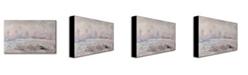 """Trademark Global Claude Monet 'Frost near Vetheuil' Canvas Art - 24"""" x 14"""""""