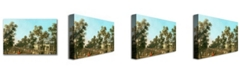 "Trademark Global Canaletto 'Vauxhall Gardens-Grand Walk' Canvas Art - 32"" x 22"""