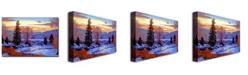 "Trademark Global David Lloyd Glover 'Early Spring Daybreak' Canvas Art - 24"" x 16"""