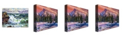 "Trademark Global David Lloyd Glover 'Ice River Sunrise' Canvas Art - 47"" x 35"""