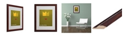 "Trademark Global Christian Jackson 'The Frog Prince' Matted Framed Art - 20"" x 16"""