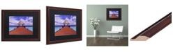 """Trademark Global David Evans 'Arrivals-Jumeirah Vittaveli' Matted Framed Art - 16"""" x 20"""""""