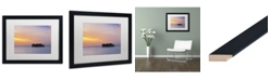 "Trademark Global David Evans 'Sunset Solitude-Maldives' Matted Framed Art - 16"" x 20"""