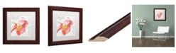 """Trademark Global Jennifer Redstreake 'Paris Botanique Red Poppy' Matted Framed Art - 11"""" x 11"""""""
