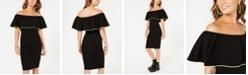 Crave Fame Crave Frame Juniors' Neon-Trim Off-The-Shoulder Dress