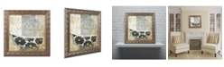 "Trademark Global Color Bakery 'Paris Bath I' Ornate Framed Art - 16"" x 16"""