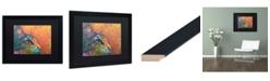 "Trademark Global Dean Russo 'Smudge' Matted Framed Art - 16"" x 20"""