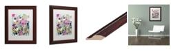 """Trademark Global Carrie Schmitt 'Too Pretty To Pick' Matted Framed Art - 11"""" x 14"""""""