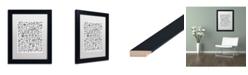 "Trademark Global Elizabeth Caldwell 'Small Flowers' Matted Framed Art - 11"" x 14"""