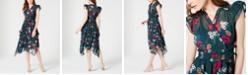 Calvin Klein Surplice Floral Dress