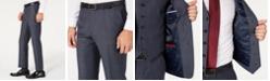 Tommy Hilfiger Men's Modern-Fit THFlex Stretch Blue Plaid Suit Separates