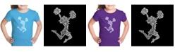 LA Pop Art Girl's Word Art T-Shirt - Cheer