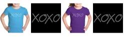 LA Pop Art Girl's Word Art T-Shirt - Xoxo