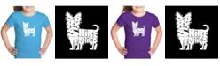 LA Pop Art Girl's Word Art T-Shirt - Yorkie