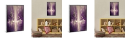 """iCanvas Purple Rain by Osnat Tzadok Gallery-Wrapped Canvas Print - 26"""" x 18"""" x 0.75"""""""