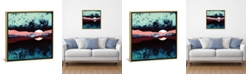 """iCanvas Night Sky Reflection by Spacefrog Designs Gallery-Wrapped Canvas Print - 37"""" x 37"""" x 0.75"""""""