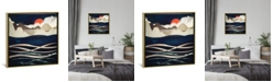"""iCanvas Midnight Beach by Spacefrog Designs Gallery-Wrapped Canvas Print - 18"""" x 18"""" x 0.75"""""""