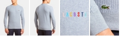Lacoste Men's Crew Neck Rainbow Logo Sweater