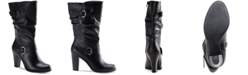 Style & Co Sachi Block-Heel Mid-Shaft Wide Calf Boots, Created for Macy's
