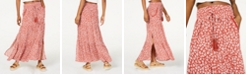 American Rag Juniors' Printed Smocked-Waist Maxi Skirt, Created for Macy's
