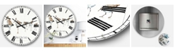 Designart Traditional Oversized Metal Wall Clock