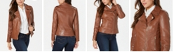 GUESS Asymmetrical Leather Jacket